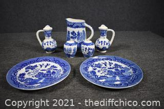 Blue and White Blue Willow Collection and More
