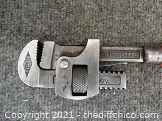 Vintage Stillson Pipe Wrench
