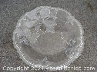 Frosted Glass Platter
