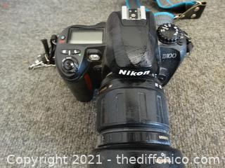 Nikon D100 Camera Works Battery Needs A Charge
