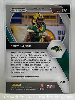 Trey Lance 2021 Panini Prizm Draft Picks Green Prizm Rookie Card RC #120