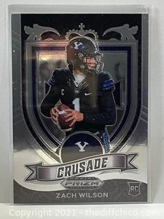 Zach Wilson- 2021 Prizm Draft Picks Crusade RC Rookie Card SP