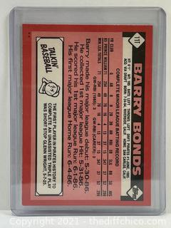 1986 Topps Traded #11T Barry Bonds Rookie Card RC Pirates Giants