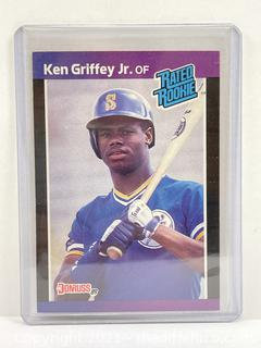 1989 Donruss KEN GRIFFEY JR. Rated Rookie #33 Seattle Mariners RC Hall of Fame