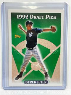 1993 Topps Derek Jeter Rookie Card #98 New York Yankees 1992 Draft Pick RC