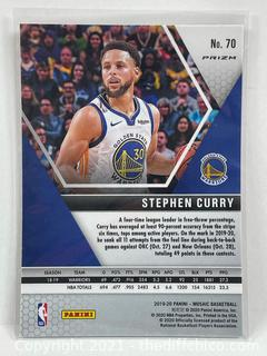 Stephen Curry 2019-20 Mosaic ORANGE REACTIVE #70 Golden State Warriors