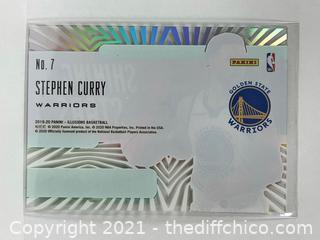 2019-20 Illusions #7 STEPHEN CURRY Shining Stars Acetate Emerald Parallel
