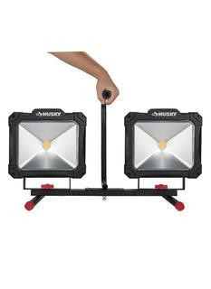 ($125) HUSKY 10,000-Lumen Twin-Head LED Work Light
