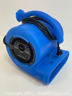 ($105) B-AIR 1/4 HP Air Mover Blower Fan