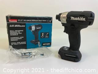 ($109) MAKITA 18-Volt LXT Lithium-Ion Sub-Compact Brushless Cordless Impact Driver (Tool Only)