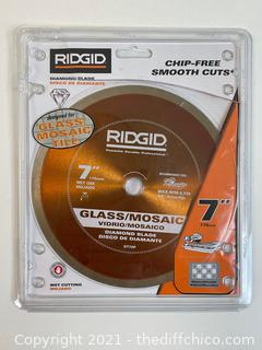 ($34.98) RIDGID 7 in. Glass Tile Blade