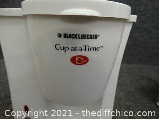 Black & Decker 1 Cup at A Time maker wks