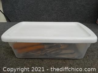 Sterilite Tub With Silverware