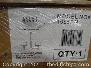 New In Box Brush Nickel Light Fixture