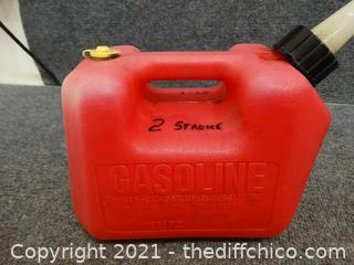 Red  1.4 Gallon Gas Can