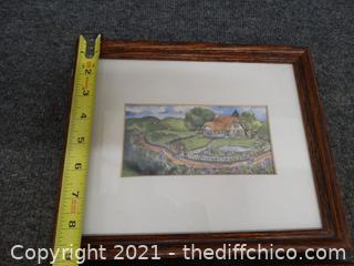 2 Framed Art Pictures