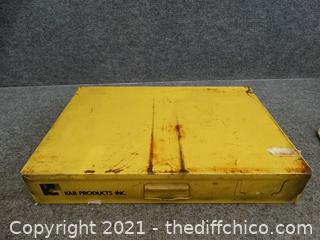 Yellow Organizer With Contents