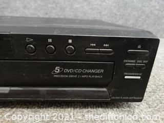 Sony 5 Disc DVD / CD Changer Powers ON