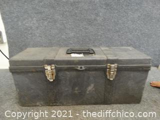 Black Tool Box With Contents