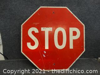 """Metal Stop Sign 30"""" X 30"""""""
