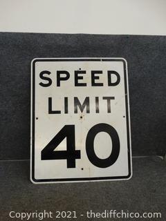 "Metal Speed Limit Sign 24"" x 30"""