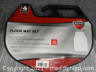 New 4 Piece Floor Mats Set