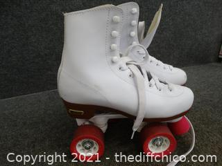 Pink & White Chicago Roller Skates 6