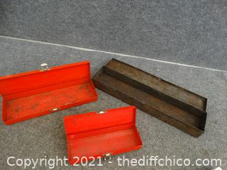 3 Metal Boxes