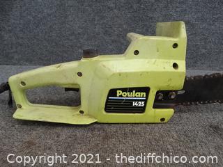 """Electric Poulan 14"""" Chain Saw wks"""