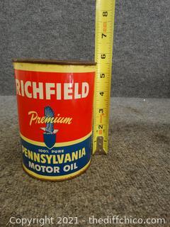 Vintage Sealed  Richfield Motor Oil full