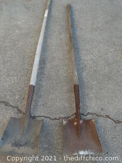 2 Square Head Shovels