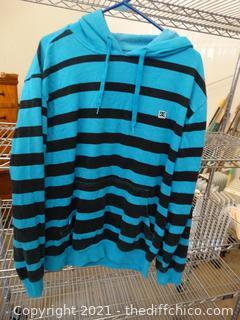 DC Blue & Black Pullover Large
