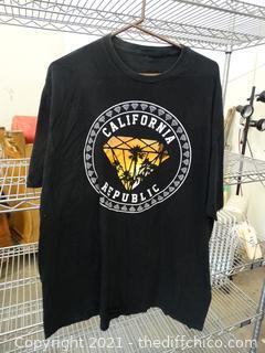 2XL California Republic T- Shirt 2xl