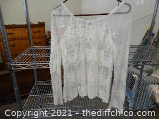 Lace White Top XL