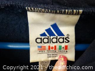 Adidas Blue Zip Up XL