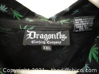 Dragon Fly Snap Front Shirt  2xl