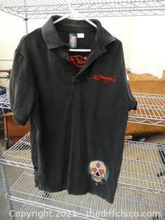 ED Hardy Black Shirt 2xl