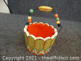 Corn Basket Decor