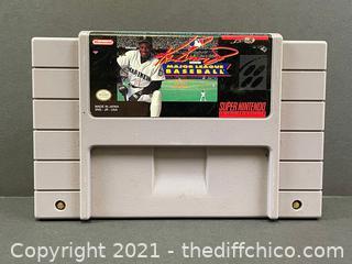 Ken Griffey Jr. Presents Major League Baseball - Authentic SNES Super Nintendo
