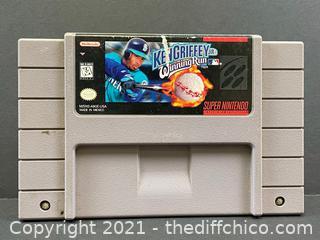 Ken Griffey Jr.'s Winning Run (Super Nintendo Snes, 1996) Authentic