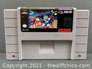 RARE Super Bomberman 1 One (Super Nintendo SNES) Authentic