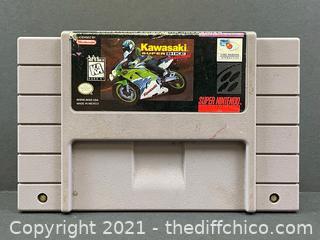 Authentic Super Nintendo SNES Kawasaki Super Bike Challenge