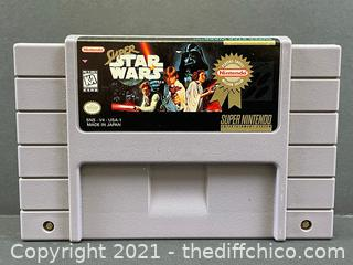 SNES Super Star Wars -  Super Nintendo Game