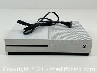 Microsoft Xbox One S White 500GB Model 1681 NO CONTROLLER or HDMI