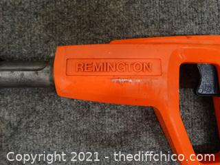 Working Remington Powder Actuated Tool