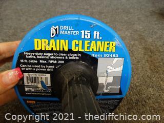 15 FT Drain Cleaner Snake