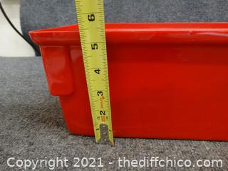Red Organizer with Cable Sleeves