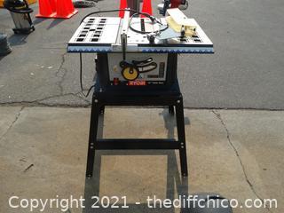 """Working Ryobi 10"""" Table Saw"""