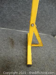 """Metal Railroad """"Men At Work""""  Sign"""