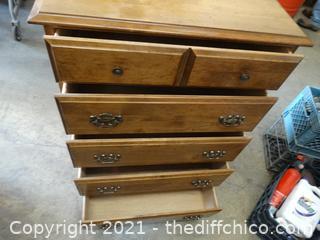 "5 Drawer Dresser 43"" x 30""  x 18"""